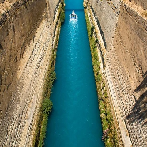 Photograph - Greece Korithia Canal