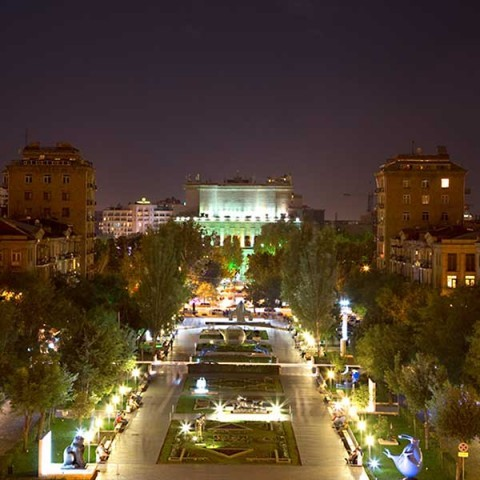 View from Cascade, Yerevan Armenia