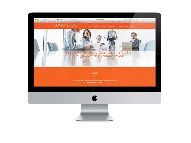 Completion of Commcentric Website